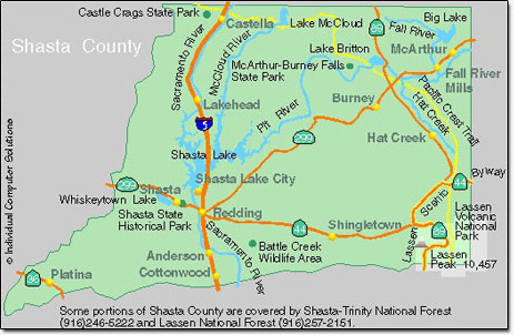 Shasta County Map