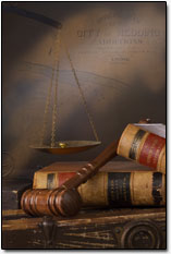 Shasta County Map, Gavel, & Law Books