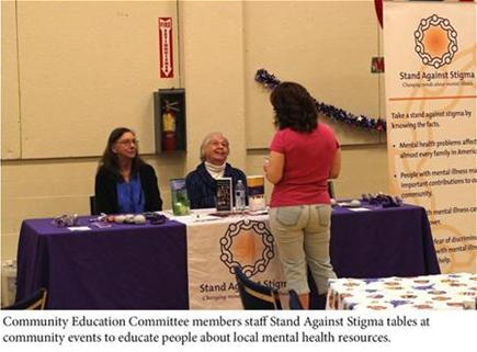 CEC members staffing a Stand Against Stigma table.