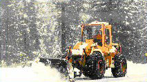 Snowplowing in Storm